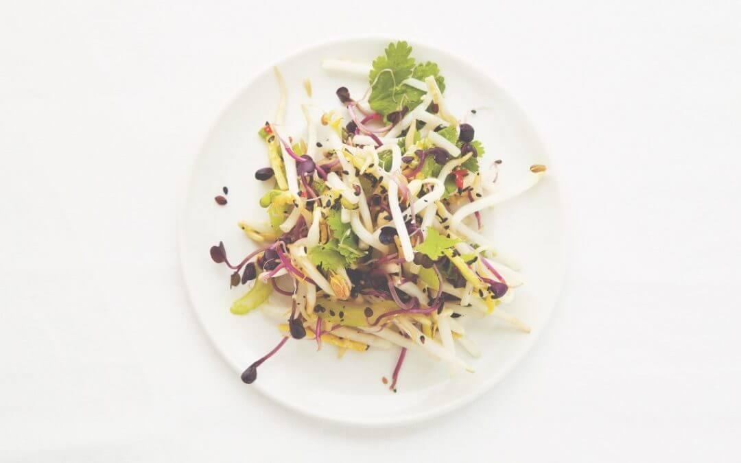 De Aziatische keuken: taugésalade met gember, knoflook en abrikoos