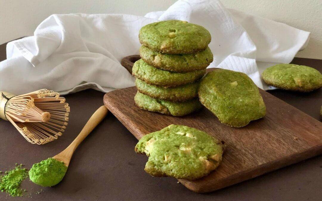 Chocoladechip koekjes met matcha
