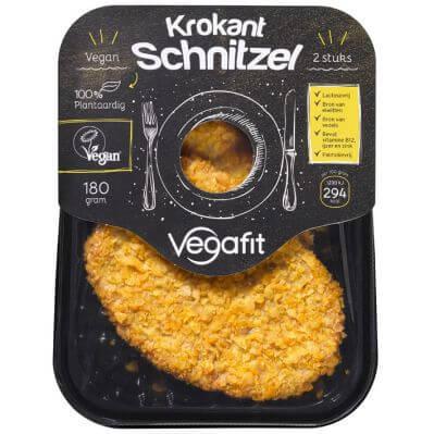 Vleesvervanger getest: Vegafit krokant schnitzel