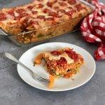 Linzen lasagne met pompoen en spinazie