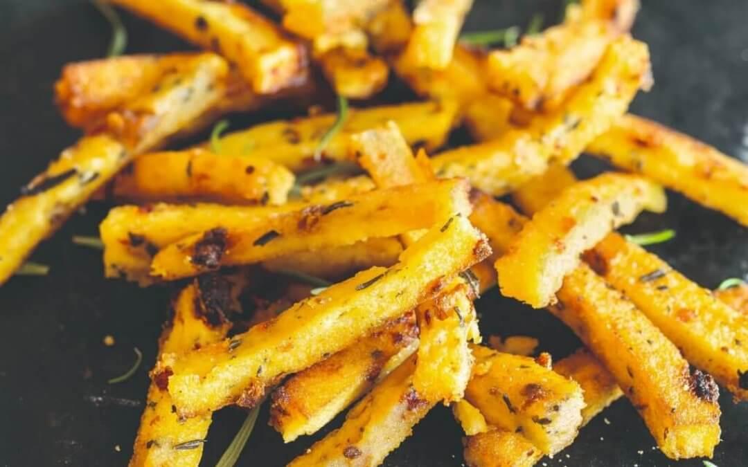 Veggie & Vegan hamburgers: polentasticks