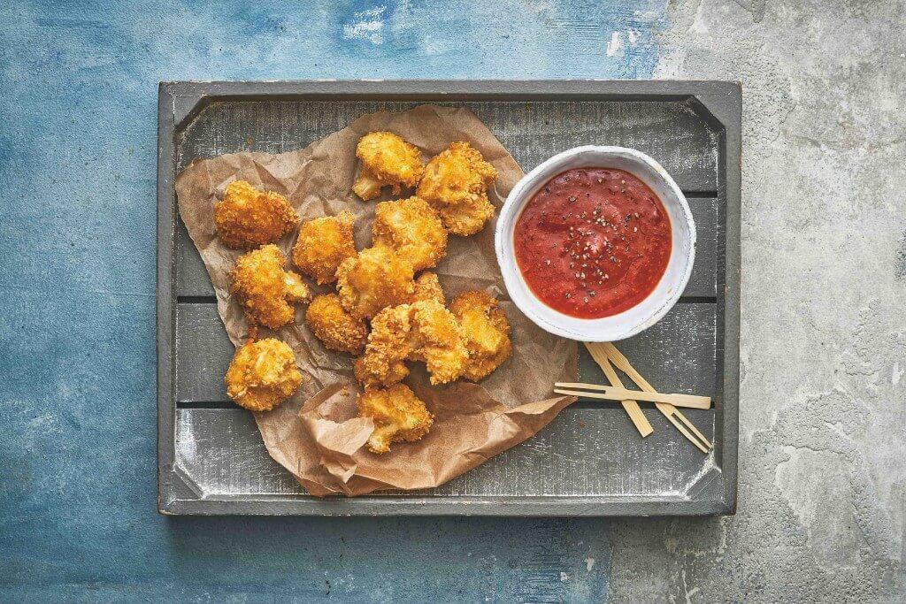 Vegan monday: Bloemkoolwings met hete saus