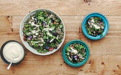 Persiana: Salade van parelgort, gegrilde bimi & za'atar