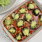 Aubergine cannelloni met cottage cheese en broccoli