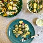 Krieltjessalade met zeekraal en radijs