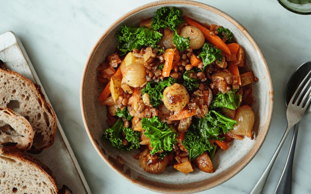 Deliciously Ella: stoofpot met linzen en en krieltjes
