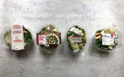 Welke supermarkt heeft de lekkerste: maaltijdsalade geitenkaas