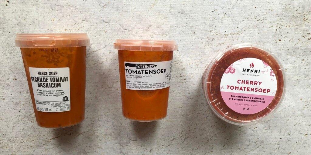 Welke supermarkt heeft de lekkerste: tomatensoep