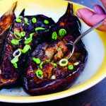 Barbecue: aubergine met miso glazuur