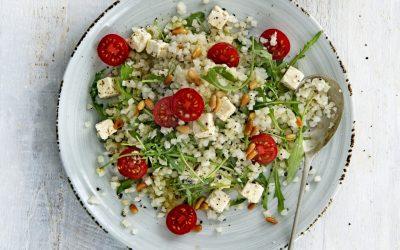 Italiaanse bloemkoolrijst salade