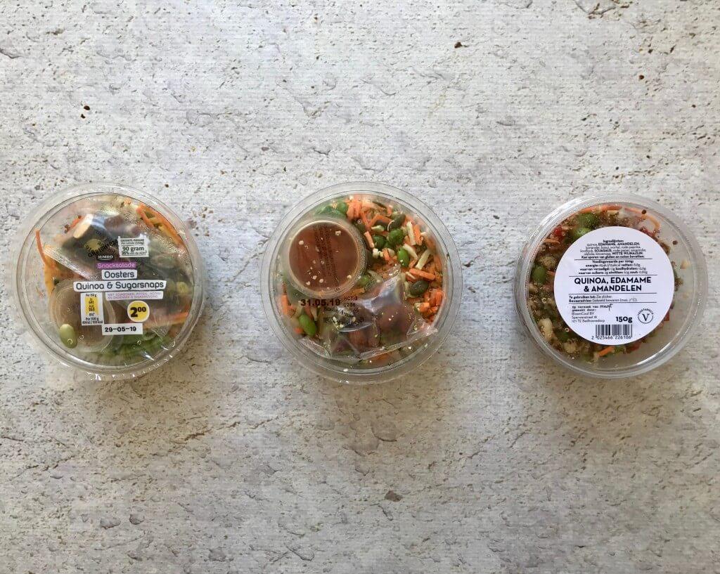 Welke supermarkt heeft de lekkerste: quinoa salade