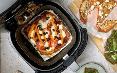 3 kleurrijke groentepizza's uit de Airfryer