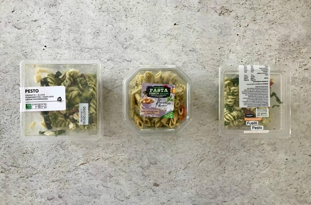 Welke supermarkt heeft de lekkerste: pastasalade pesto