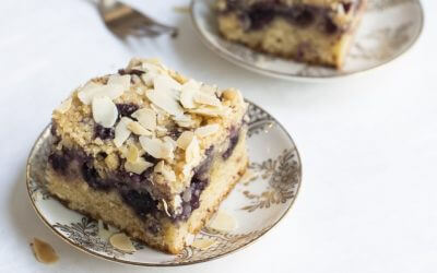 Sinner Saturday: kruimelcake met blauwe bessen