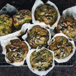Little Green Kitchen: muffins met zoete aardappel en spinazie