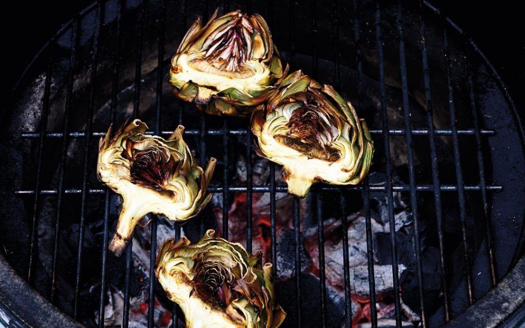 Barbecue: artisjok met vinaigrette
