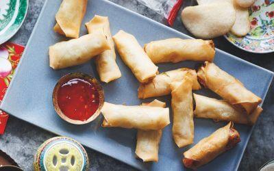 De Chinese keuken: vegetarische mini loempia's