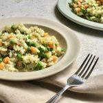 Vega budget: frisse risotto met venkel en doperwten