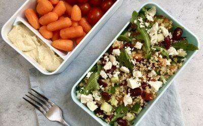 Vegetarische lunch: bulgursalade met kruidendressing