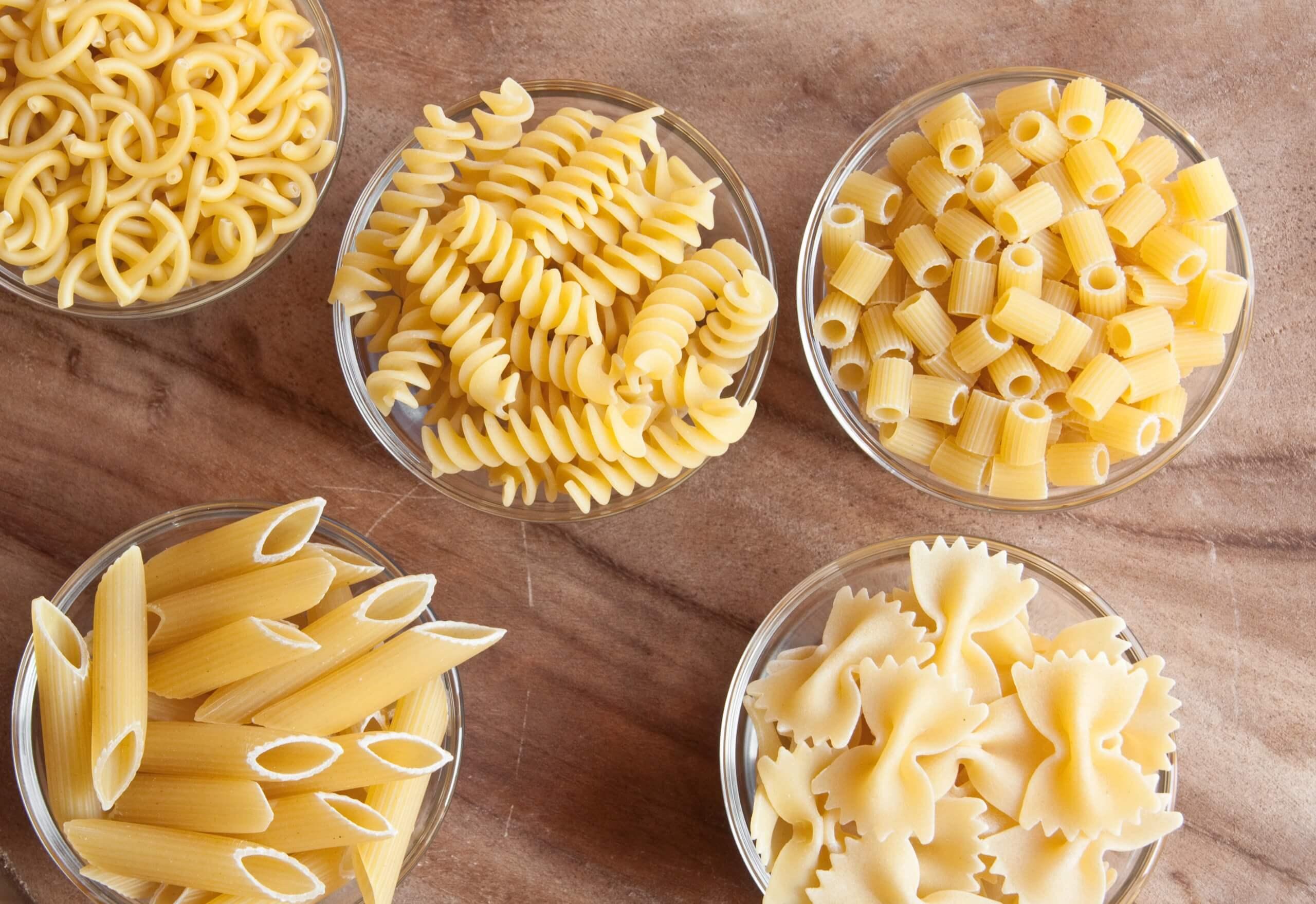 Alle soorten pasta op een rijtje!