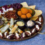De ultieme luxe vegetarische borrelplank