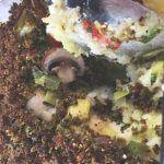 Knapperige aardappel-groenteschotel