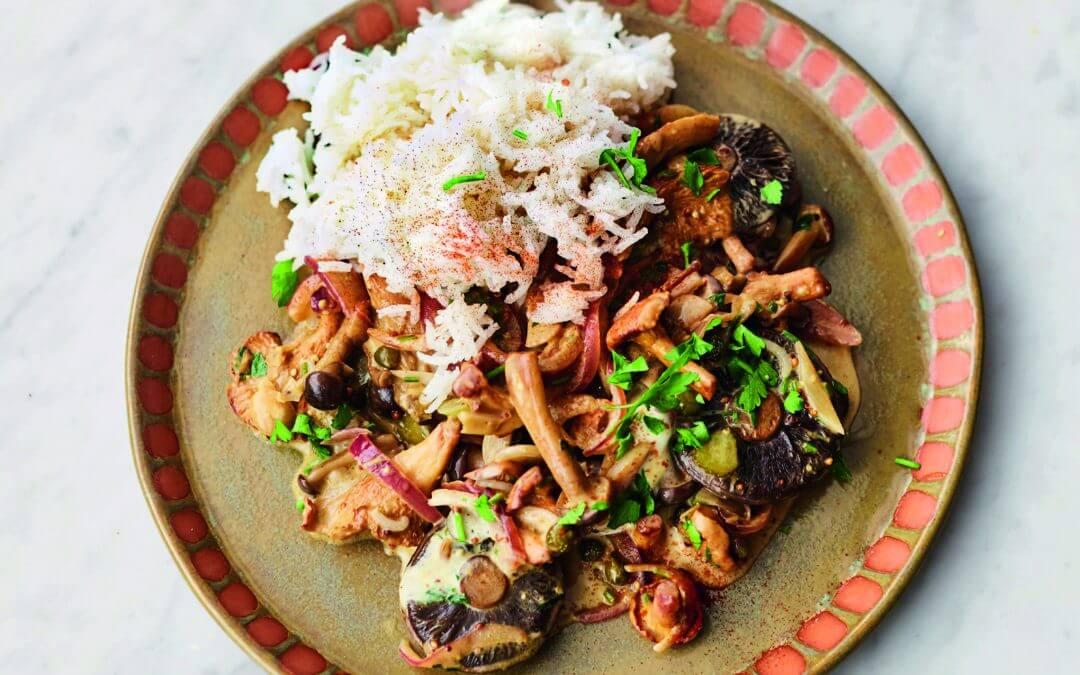 Jamie Oliver's VEG! paddenstoelen stroganoff