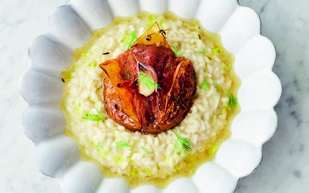 Jamie Oliver's VEG! risotto met geroosterde tomaat