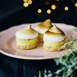 Kerst: meringue limoen-cakejes