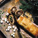 Kerst: hartige strudel met prei, zongedroogde tomaat en olijven
