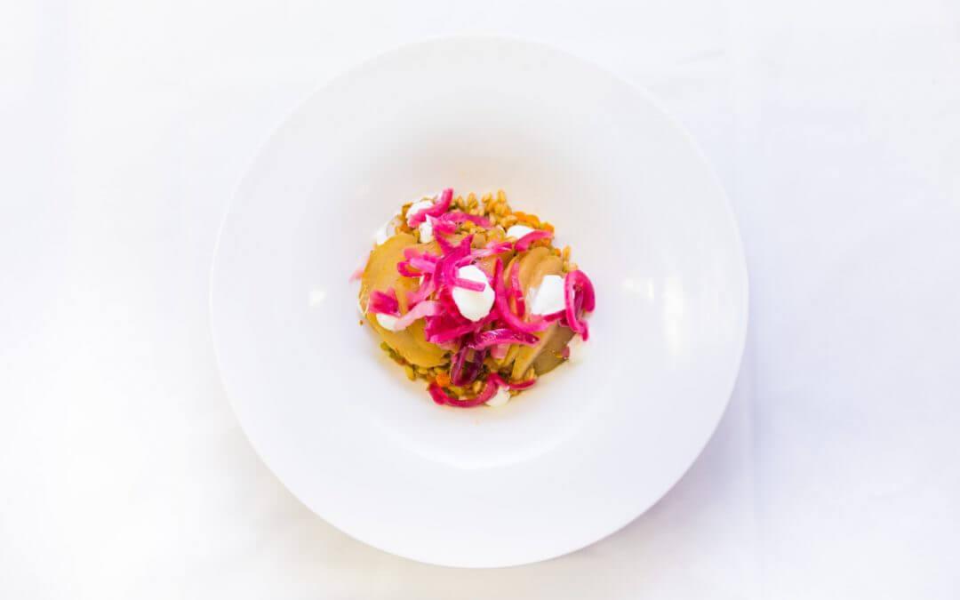 Het groente boekje: koolrabi met gepelde tarwe