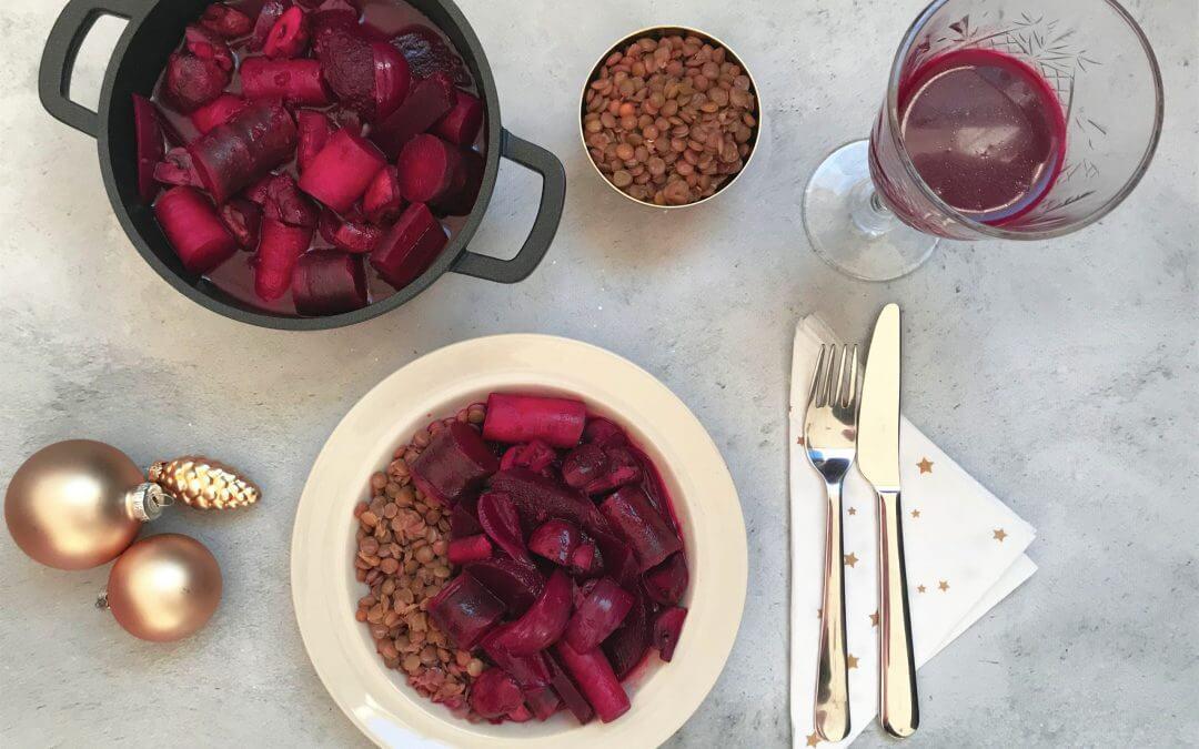 VEGA Kerstmenu: bieten bourguignon met kastanjechampignons en wortel