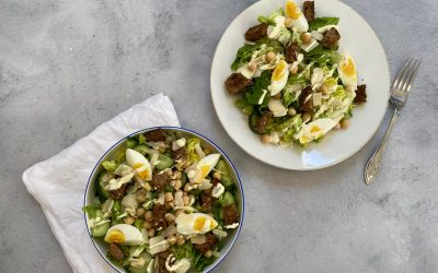 Goede start van 2020: vega caesar salade!