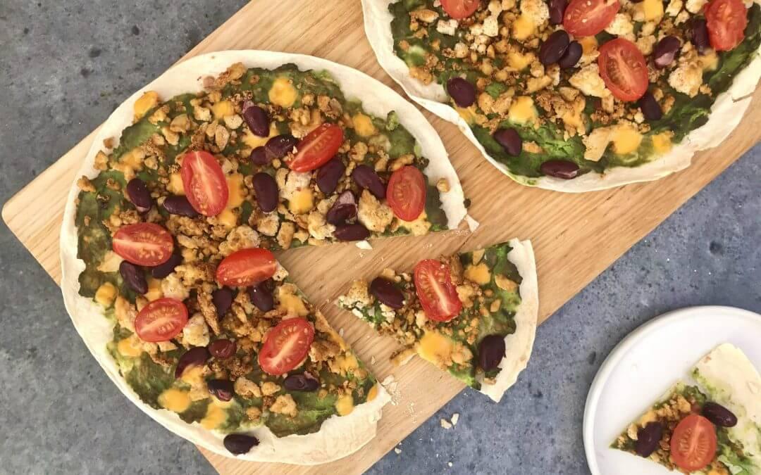 Vega budget: Mexicaanse tortizza's met tofu
