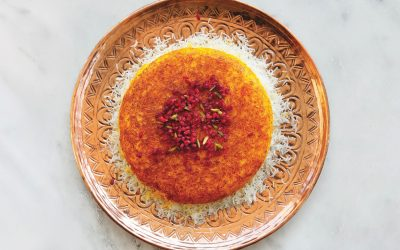 De Perzische keuken: rijst met een gouden korst