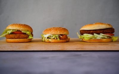 Wat is de beste vegetarische fastfood kipburger?