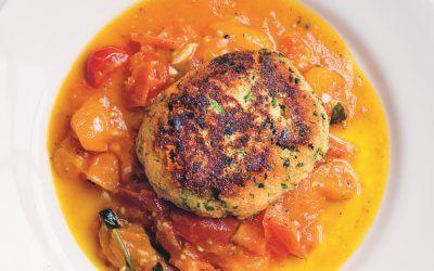 Greenfeast – lente, zomer: aardappelkoekjes met pittige tomaten