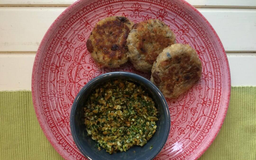 Lezersrecept: linzen couscousburger met wortel-peterseliepesto