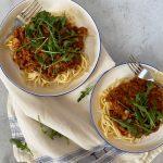 Spaghetti bolognese met vega gehakt