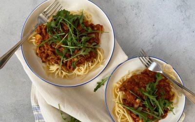 NWZV: spaghetti bolognese met vega gehakt