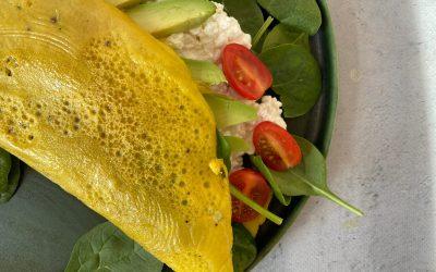NWZV: eggwrap met spinazie, hüttenkäse en tomaat