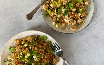 NWZV: gebakken rijst met gemarineerde tofu