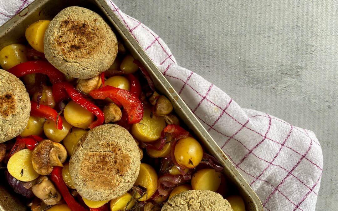 NWZV: AVG-notenburger met groenten en aardappel traybake