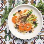 Het mediterrane forest feast kookboek: salade van geschroeide venkel en mandarijn