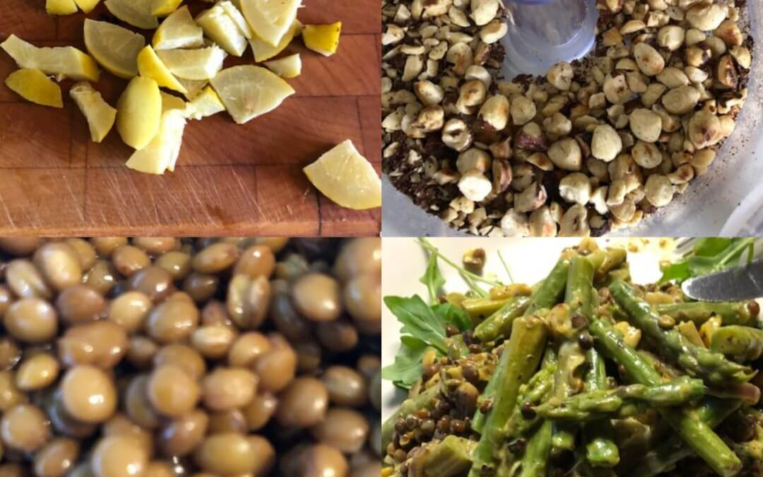 Warme linzensalade met asperges