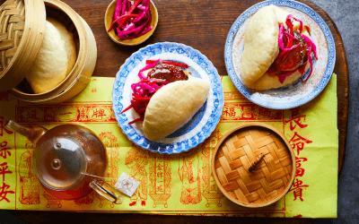 Chinese Takeaway Veggie: gestoomde broodjes met vegetarische char siu