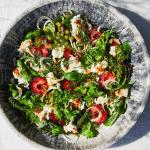 Home Made Basics: Salade met verse pruimen, venkel, wilde kruiden en mozza