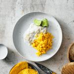 De Thaise keuken: Khao Niao Mamuan (koude kleefrijst) met zout-zoete kokossaus
