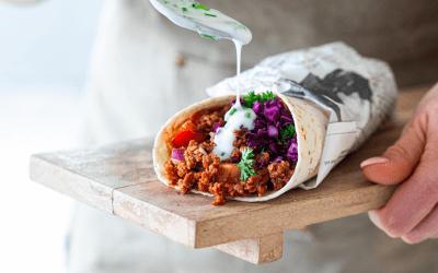 High protein: vegan Turkse pizza