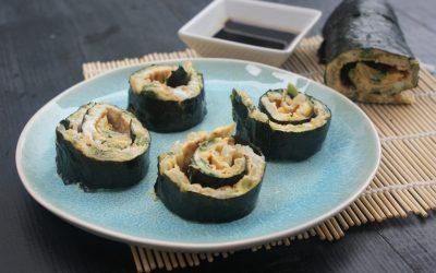 Sushi omelet rol